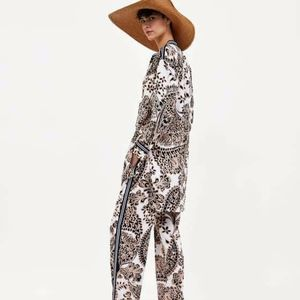 ZARA Printed Trousers with Drawstring